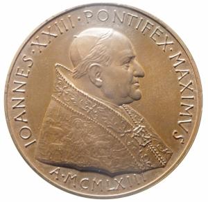 obverse: Medaglie. Vaticano. Giovanni XXIII. 1965. SALVTIFERAM ORBI PACEM PROPOSVIT. Ae. FDC.