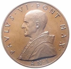 obverse: Medaglie. Vaticano. Paolo VI. Anno I. Ae. Peso 31,95 gr. Diametro 34,00 mm. FDC.