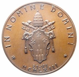 reverse: Medaglie. Vaticano. Paolo VI. Anno I. Ae. Peso 31,95 gr. Diametro 34,00 mm. FDC.