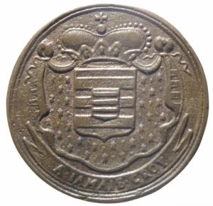 obverse: Medaglie. Francia. Luigi XV. 1715-1774. Philippe Alexandre Emmanuel di Croy-Solre. 1676-1723. Gettone. 1719. Ae. Dugn. 4880. De Coster 714. Peso 12,45 gr. Diametro 32,00 mm. SPL.