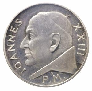 obverse: Medaglie.Giovanni XXIII.1958-1968 Anniversario dell  Incoronazione .Ar.Peso17,25 gr.SPL.^^^