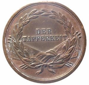 reverse: Medaglie.Impero Austro Ungarico.Francesco Giuseppe. DER TAFFERKEIT in corona d  alloro.Cu.Peso 14,70.BB+.Rame Rosso.^^^