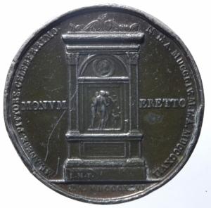 reverse: Medaglie.Andrea Appiani.1764,MONVM ERETTO.Peso 59,65 gr.Diametro 42,00 mm.BB.^^^