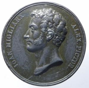 obverse: Medaglie.Genova.1829 Giovanni Migliara.EX CONSVLTO CIVICO.Peso 31,25 gr.Diametro 40,00 mm.BB.^^^