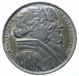 obverse: Medaglie.Germania.1830.Augsburg.Martin Lutero e Melanchthon.Peso 20,40 gr.Diametro 30,00 mm.BB+.^^^