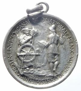 obverse: Medaglie.Italia.1923.50 del Canapificio Nazionale.Peso 14,15 gr.BB+.^^^