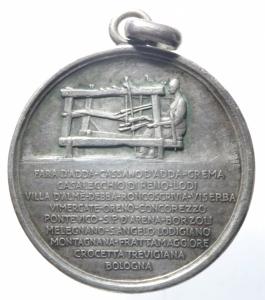 reverse: Medaglie.Italia.1923.50 del Canapificio Nazionale.Peso 14,15 gr.BB+.^^^