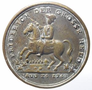 obverse: Medaglie.Federico il Grande 1758.Peso 15,40 gr.Diametro 40 mm.BB.^^^