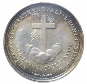 reverse: Medaglie.Leone XIII.Ar.ANNO X.1888.Croce sulle nubi.Peso 9,20 gr.SPL.^^^
