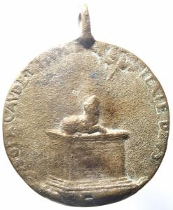 reverse: Medaglie.Medaglia da classificare con alto prelato e leone su cippo.MB.^^^