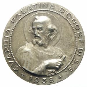 reverse: Medaglie.Pio XI.Guardia Palatina d Onore 1938.SPL.>>>