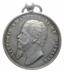 obverse: Medaglie.Vittorio Emanuele II.Guerre per l  Indipendenza e L  Unità d  Italia.Peso 15,90 gr.SPL.>>>
