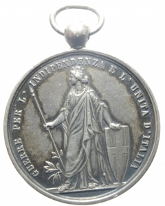 reverse: Medaglie.Vittorio Emanuele II.Guerre per l  Indipendenza e L  Unità d  Italia.Peso 15,90 gr.SPL.>>>