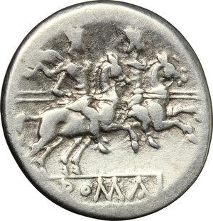 Anonymous. AR Denarius, after 211 BC