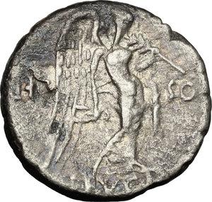 L. Calpurnius Piso Frugi.. AR Quinarius, 90 BC