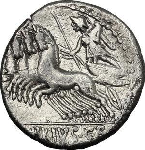 C. Vibius C. f. Pansa.. AR Denarius, 90 BC
