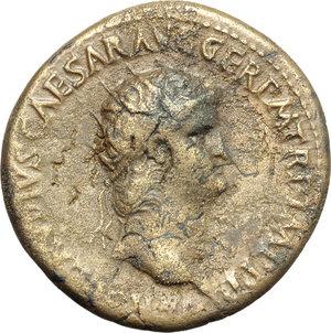 obverse: Nero (54-68).. AE Dupondius
