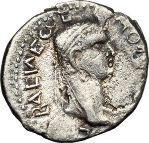 obverse: Nero (54-68) with Polemo II, king of Pontos (38-64).. AR Drachm, 57-58 AD
