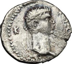 reverse: Nero (54-68) with Polemo II, king of Pontos (38-64).. AR Drachm, 57-58 AD
