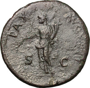 reverse: Vespasian (69-79).. AE Sestertius, 71 AD
