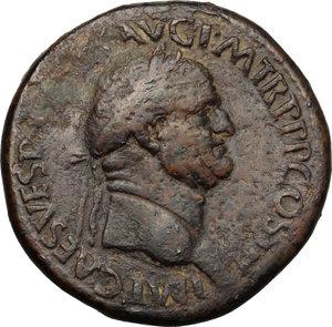 obverse: Vespasian (69-79).. AE Sestertius, Rome mint, 71 AD
