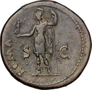 reverse: Vespasian (69-79).. AE Sestertius, Rome mint, 71 AD