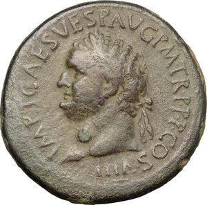 obverse: Titus (79-81).. AE Sestertius, 89 AD