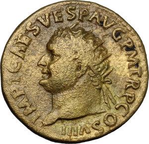obverse: Titus (79-81).. AE Dupondius, Rome mint, 80-81