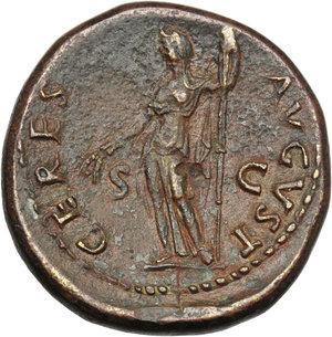 reverse: Domitian as Caesar (69-81).. AE Dupondius