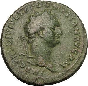obverse: Domitian (81-96).. AE Sestertius, 82 AD