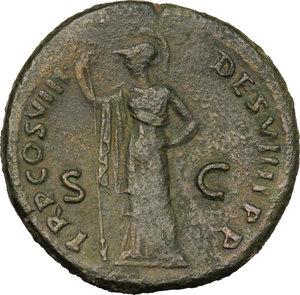 reverse: Domitian (81-96).. AE Sestertius, 82 AD