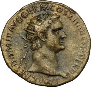 obverse: Domitian (81-96).. AE Dupondius, Rome mint, 88-89 AD