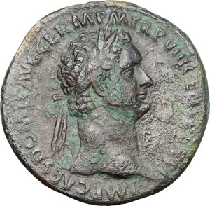 obverse: Domitian (81-96).. AE As, 88 AD