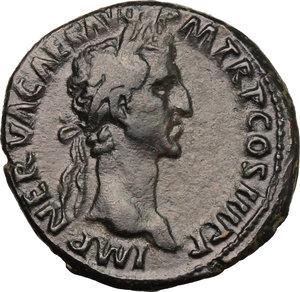 obverse: Nerva (96-98).. AE As, 97 AD