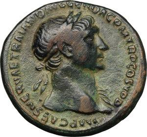 obverse: Trajan (98-117).. AE As, 103-111