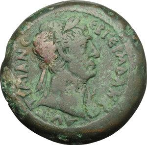obverse: Trajan (98-117).. AE Drachm, Alexandria mint, 111-112 AD
