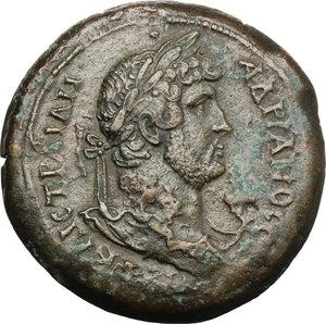 obverse: Hadrian (117-138).. AE Drachm, Alexandria mint, 133-134 AD