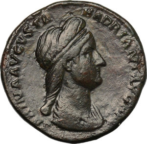 obverse: Sabina, wife of Hadrian (died in 137 AD).. AE As, Rome mint