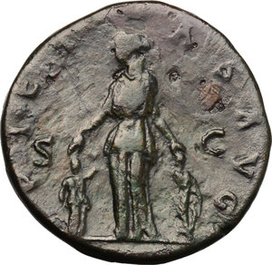 reverse: Sabina, wife of Hadrian (died in 137 AD).. AE As, Rome mint