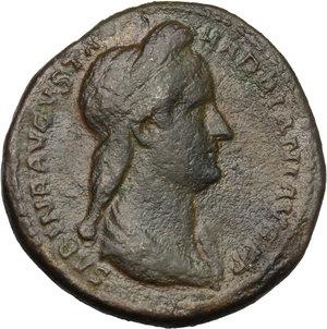 obverse: Sabina, wife of Hadrian (died 137 AD).. AE Dupondius, Rome mint