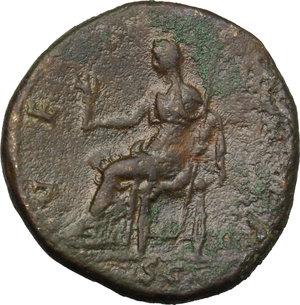reverse: Sabina, wife of Hadrian (died 137 AD).. AE Dupondius, Rome mint