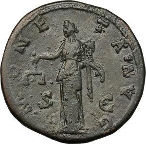 reverse: Antoninus Pius (138-161).. AE Sestertius, 140-144 AD