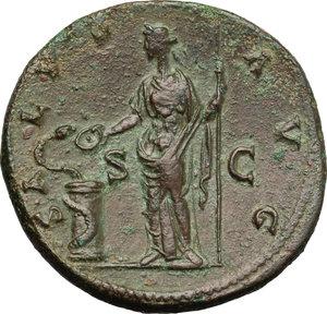 reverse: Antoninus Pius (138-161).. AE Sestertius, Rome mint, 140-144 AD