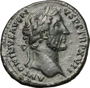 obverse: Antoninus Pius (138-161).. AE Sestertius, 153-154 AD