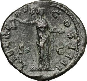 reverse: Antoninus Pius (138-161).. AE Sestertius, 153-154 AD