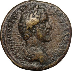 obverse: Antoninus Pius (138-161) with Marcus Aurelius Caesar.. AE Sestertius, Rome mint, 140-144 AD