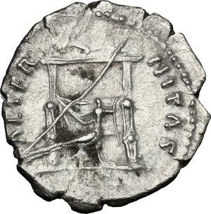 reverse: Faustina I, wife of Antoninus Pius (died 141 AD).. AR Denarius, Rome mint, after 141 AD