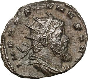 Aureolus, Romano-Gallic Usurper (268-269).. BI Antoninianus in the name of Postumus, Mediolanum mint, 268 AD