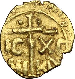 Messina.  Guglielmo II (1166-1189). Tarì con cinque globetti disposti a croce