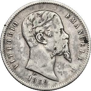 Vittorio Emanuele II, Re Eletto (1859-1861).. Lira 1860 Bologna